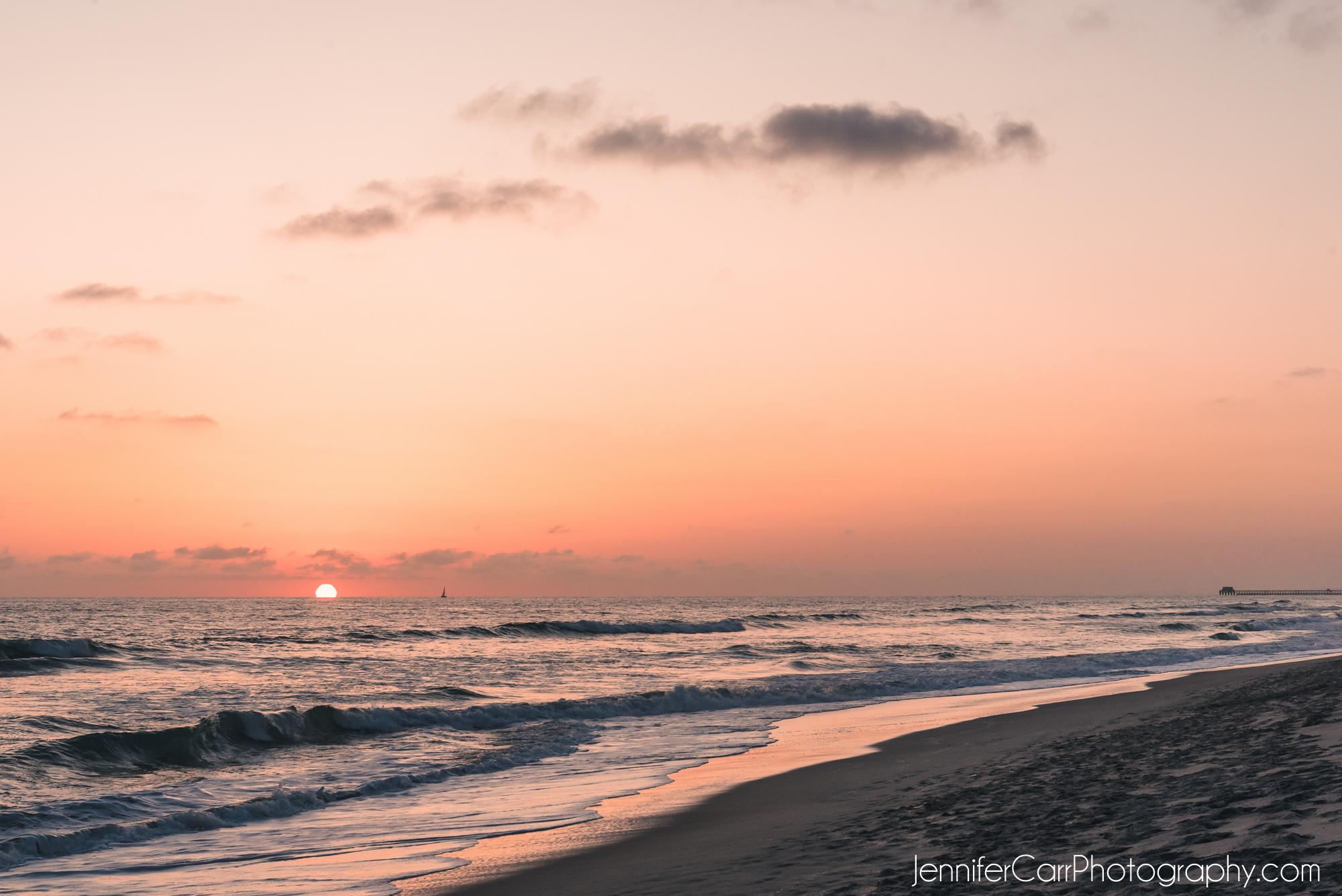 橙色日落,卡尔斯巴德,南加州,卡尔斯巴德旅馆,摄影