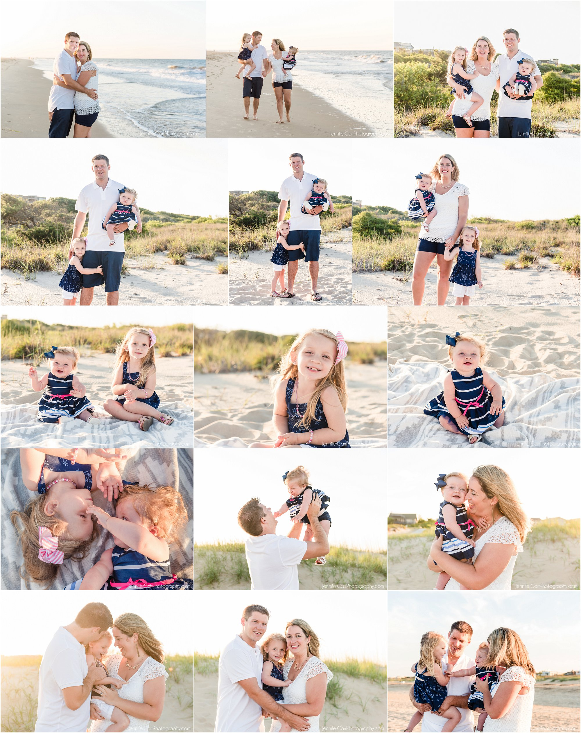 弗吉尼亚海滩全家福,珍妮弗·卡尔摄影,北端照片,
