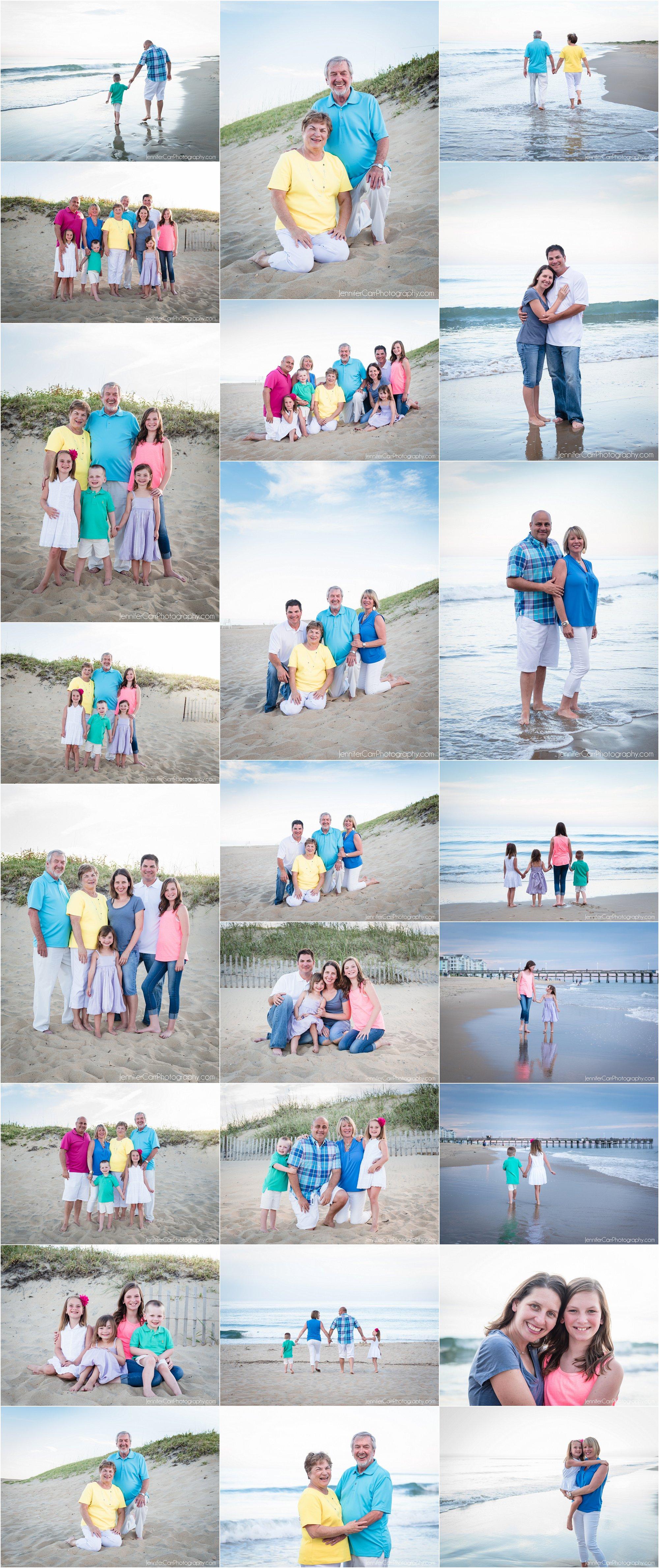 弗吉尼亚海滩全家福,詹妮弗·卡尔摄影,沙布里格照片,度假肖像,小岛公园