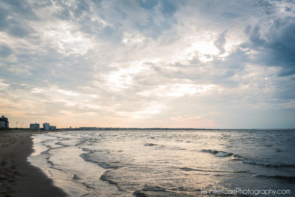 Chesapeake海滩,弗吉尼亚海滩,日落