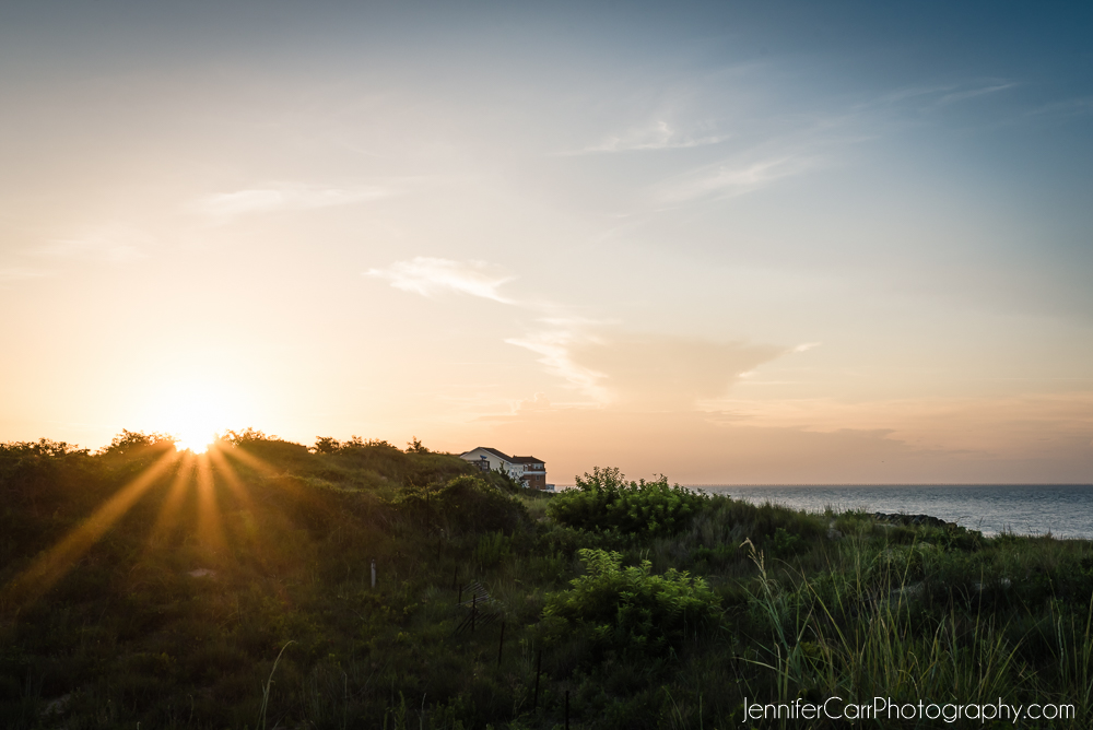 sunset, fort story, virginia beach
