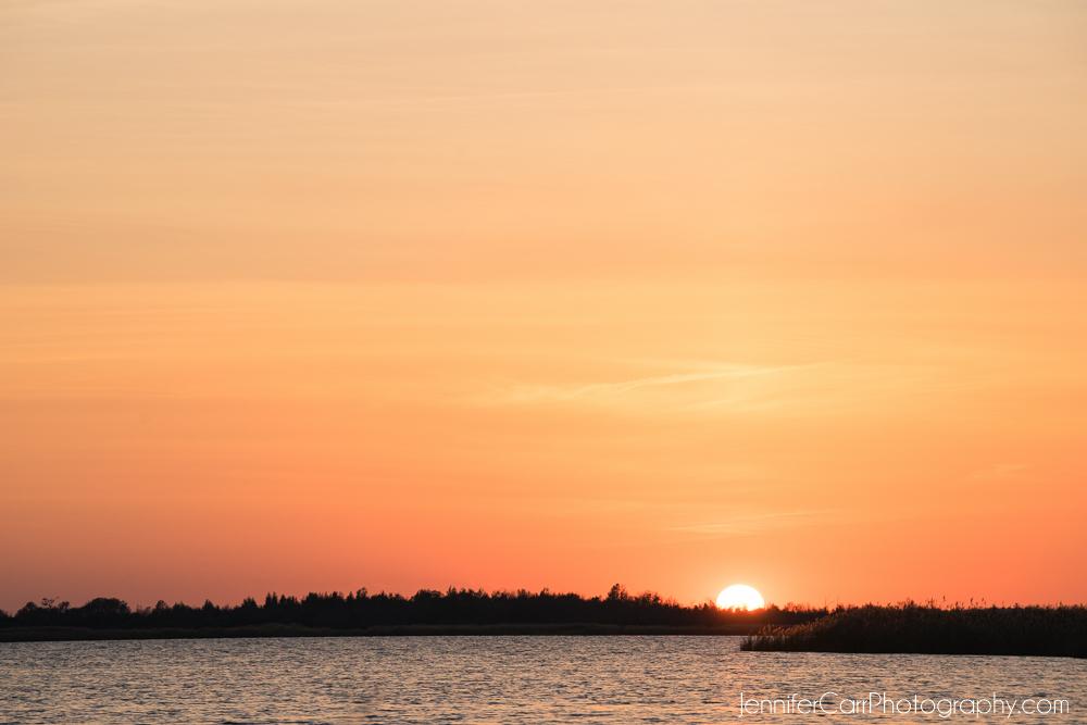 orange sunset back bay national wildlife refuge virginia beach photography