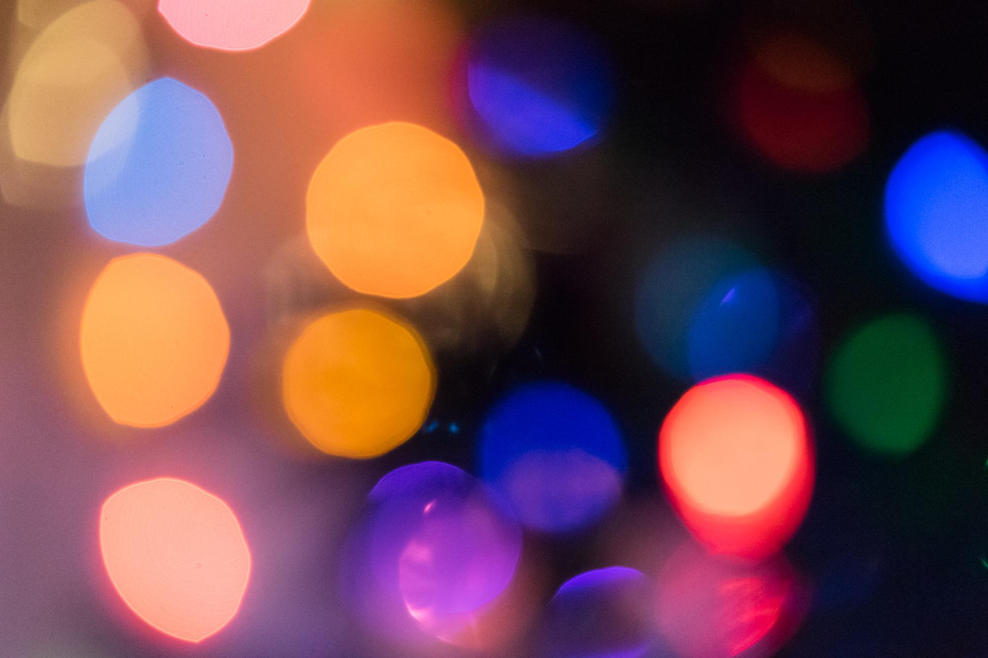 圣诞灯散景