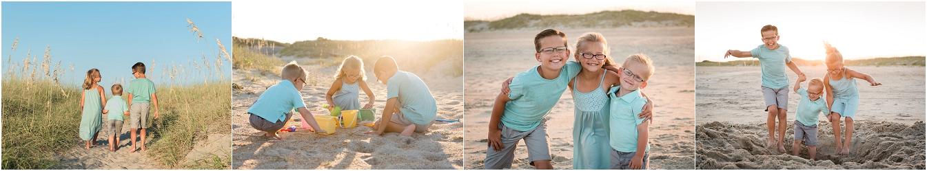 弗吉尼亚海滩摄影师,哈特拉斯岛全家福