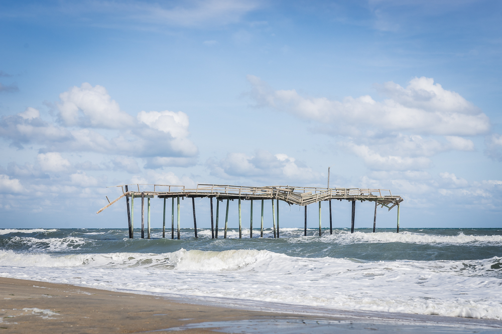 frisco pier, cape hatteras, hatteras island, north carolina, outer banks