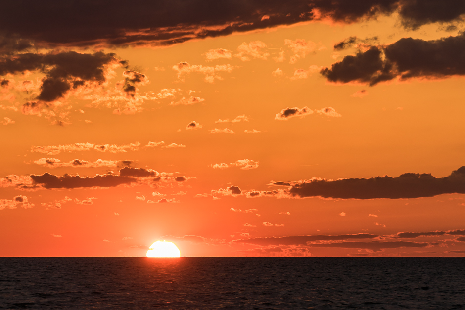 sunset, avon, buxton, hatteras, pamlico sound, cloud, colorful, orange sky