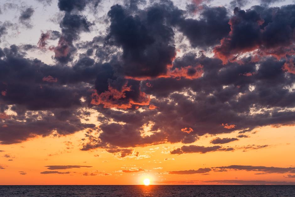 sunset, avon, buxton, hatteras, pamlico sound, cloud, colorful, orange, purple sky