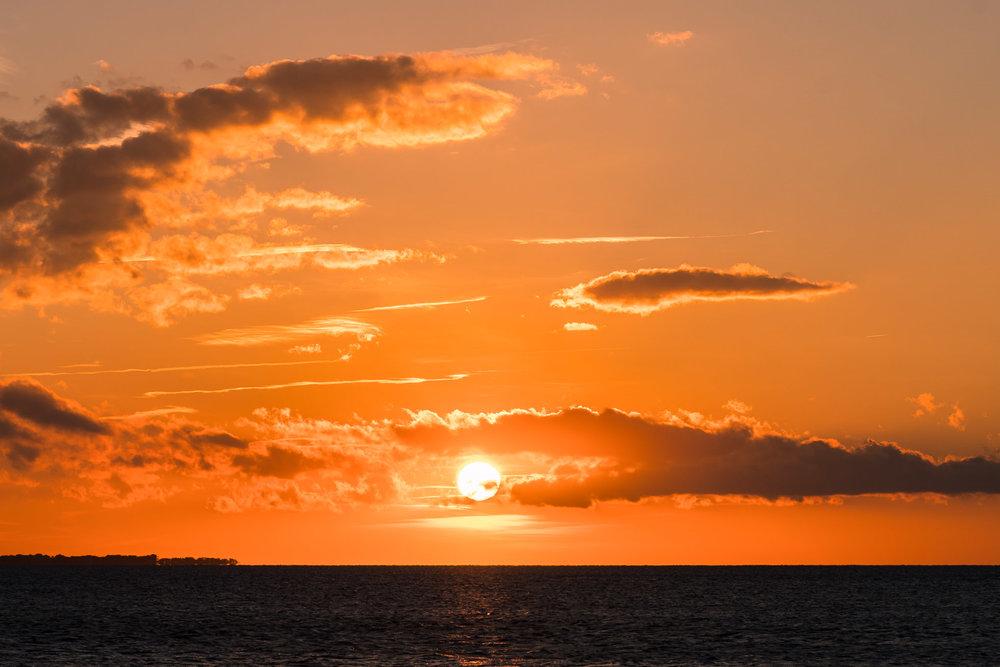 Orange sky, sunset, Canadian hole, kite point, pamlico sound, cape hatteras national seashore, outer banks photographer, landscape photography