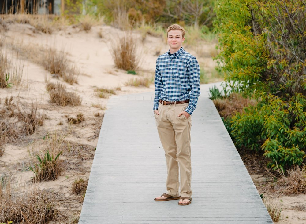 first landing state park senior portraits, Virginia beach oceanfront, cox high school photographer