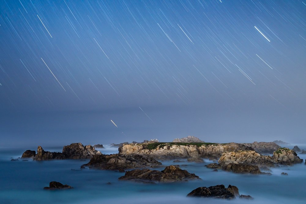 The Night Sky at Pacific Grove, CA