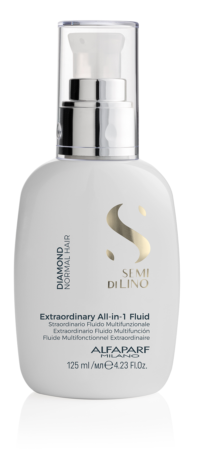EXTRAORDINARY ALL-IN-1 FLUID    DESCRIPTION   Makes blow drying easier and amplifies shine Extreme radiance   FORMAT   Bottle 125ml