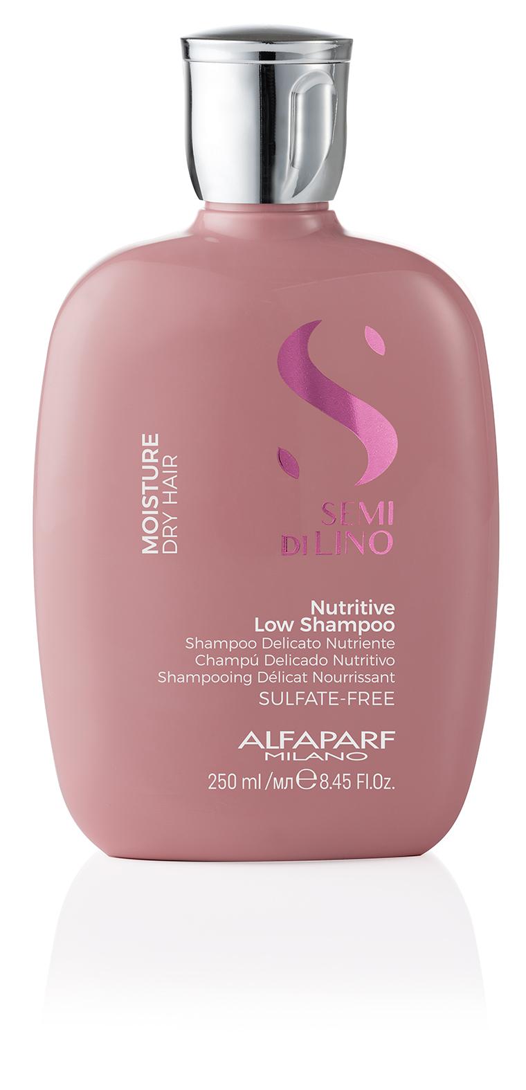 NUTRITIVE LOW SHAMPOO    DESCRIPTION   Gently cleanses Nourishes  SULFATE FREE LIGHTNESS    FORMAT   Bottle 250ml