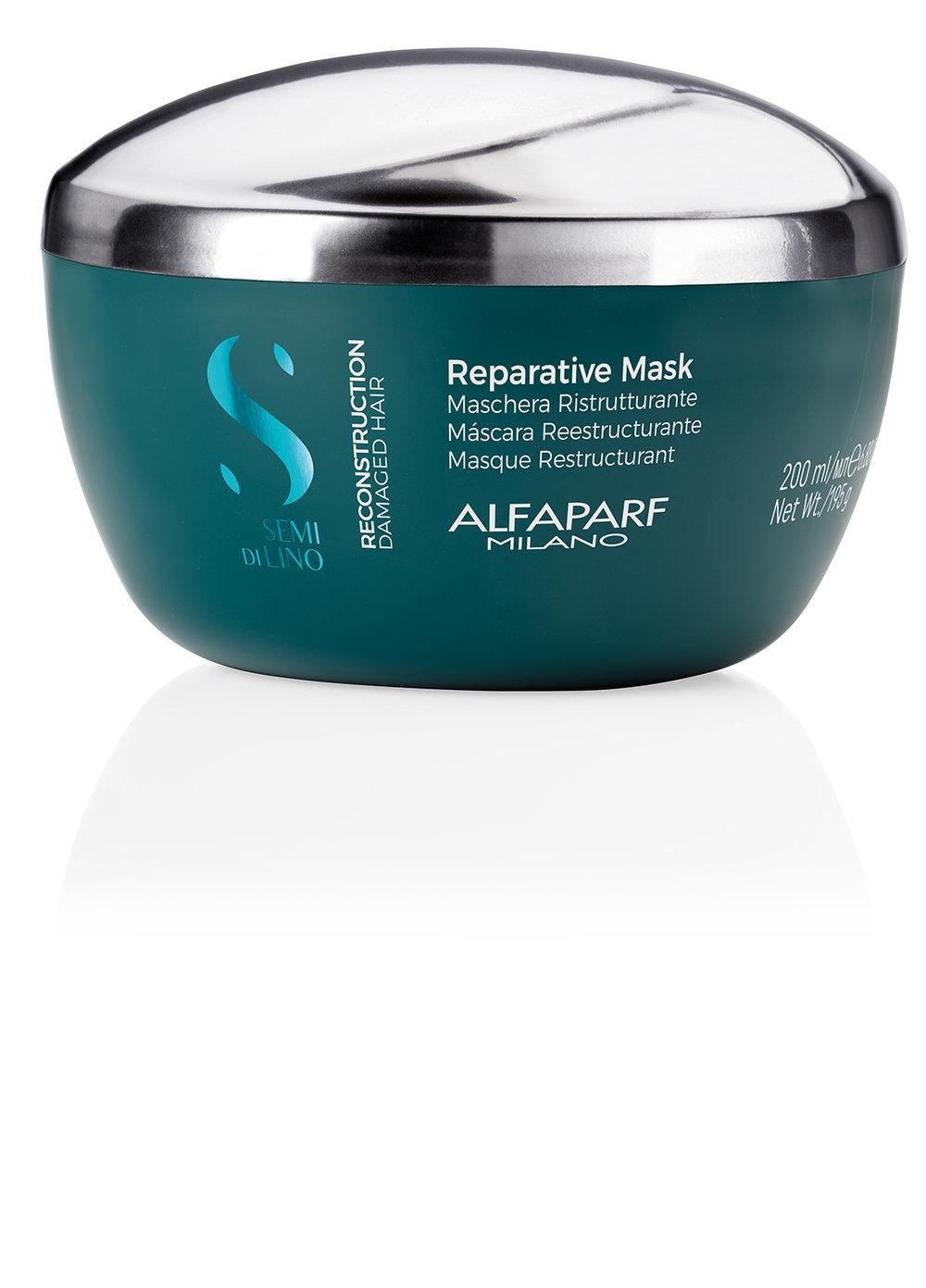 REPARATIVE MASK    DESCRIPTION   Strengthens and restructures the hair cortex Improve resistance   FORMAT   Jar 200ml