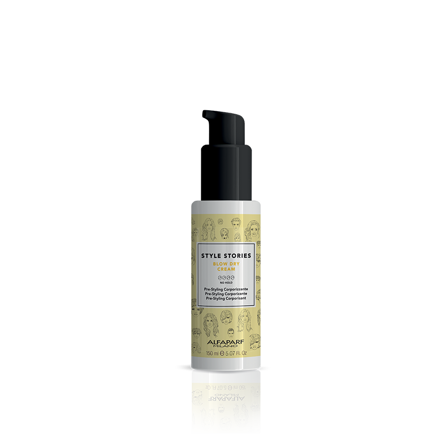 BLOW DRY CREAM    DESCRIPTION   Cream for increased body, makes drying quicker and easier. Fights frizz and does not weigh the hair down, leaving it soft and lightweight. Also ideal for pre-cut use.   FORMAT   150 ml