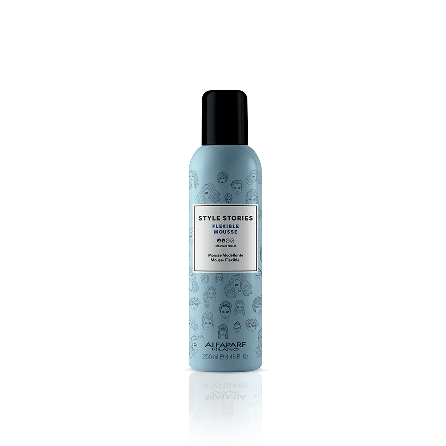 FLEXIBLE MOUSSE    DESCRIPTION   A flexible mousse which creates supple support, giving flexibility to the hair fiber. The hair looks defined, silky and shiny, for a fantastic nude effect.   FORMAT   250 ml