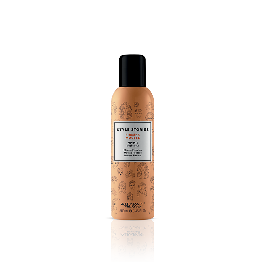 FIRMING MOUSSE    DESCRIPTION   Fixing mousse, ideal for curly hair and as a base for more structured hair styles. Defines the shape perfectly, without drying out the hair.   FORMAT   250 ml