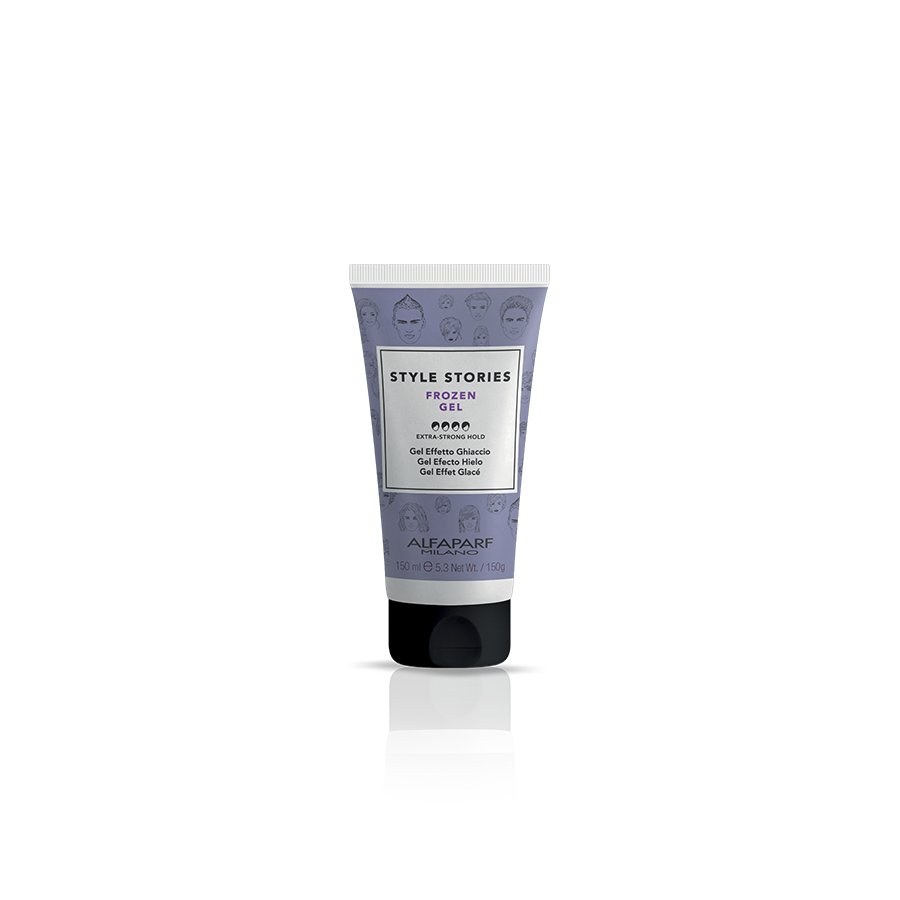 FROZEN GEL    DESCRIPTION   Gel for extreme ice-effect looks. Crystallizes and sets the hair style.  Perfect look for 8 hours!*    FORMAT   150 ml   *92% of the initial style after 8 hours. Instrumental tests conducted at 23°C - 73°F, in conditions of controlled humidity (50%).