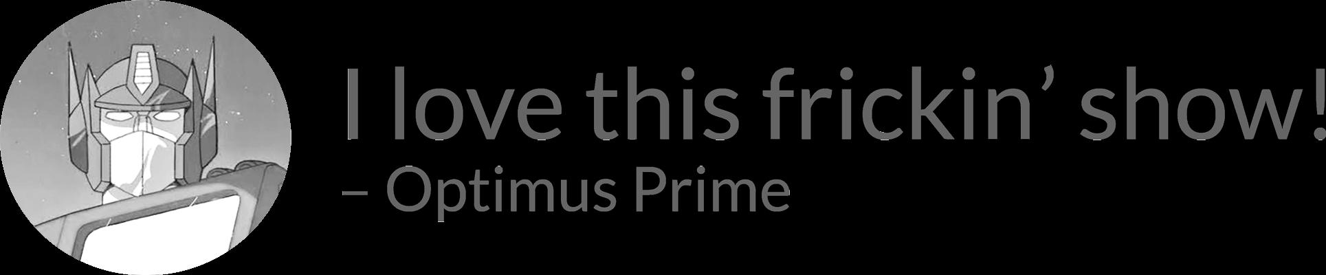 Image: portrait of Optimus Prime