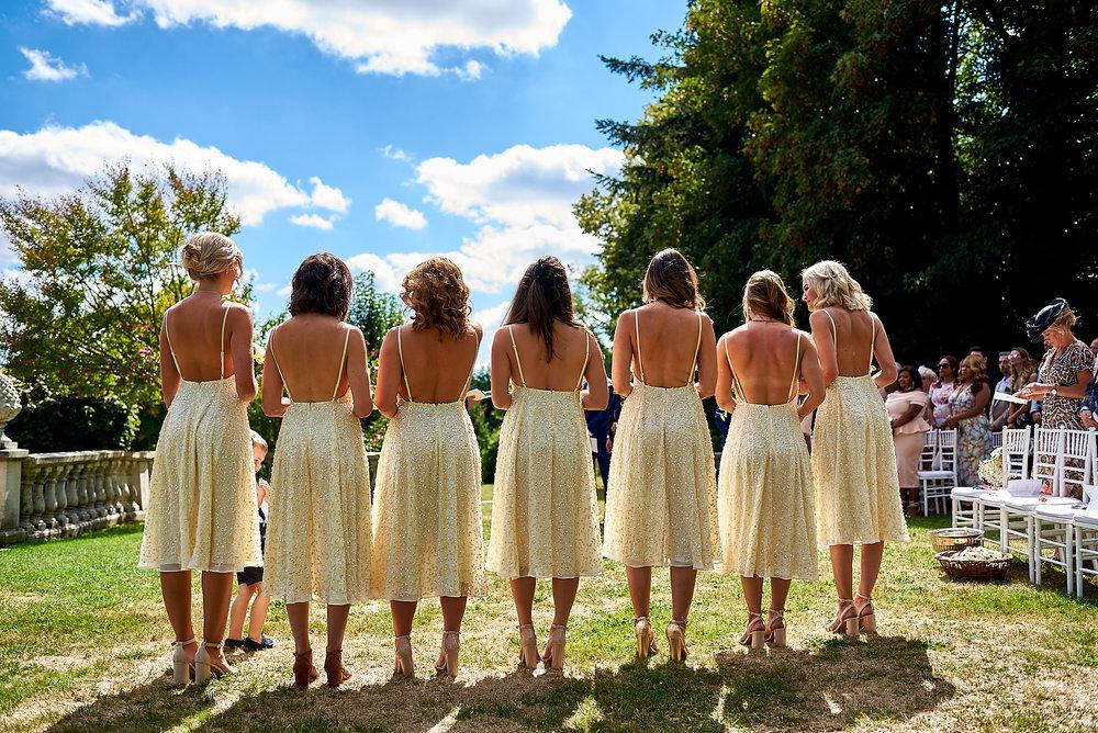 The bridesmaids - Wedding at Chateau la Durantie Dordogne, France. Wedding photographer in Clermont-Ferrand Bordeaux