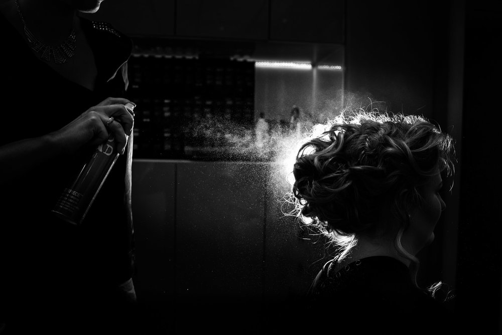 Photo artistique coiffure spray à Clermont-Ferrand