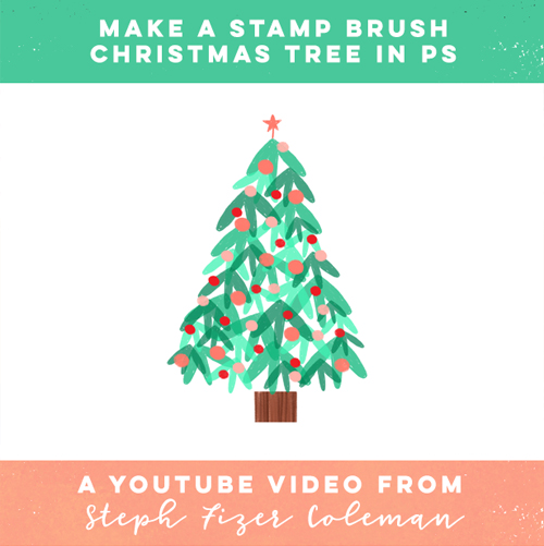 Make a Stamp Brush Christmas Tree in Photoshop — Learn with