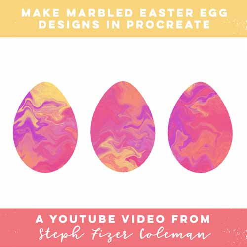 Make Marbled Easter Egg Designs in Procreate — Learn with