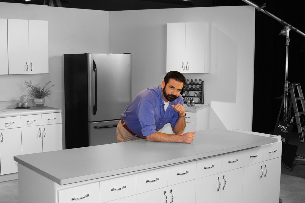 Billy Mays on Set for a Commercial Shoot