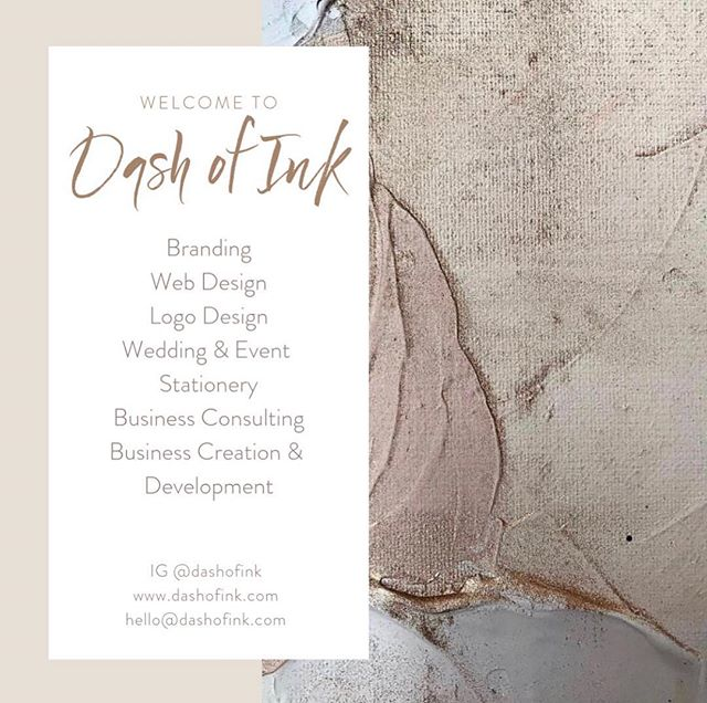 Welcome and thank you for stopping by! I'm so excited to finally launch Dash of Ink. We are a branding house that specializes in Bespoke Branding, Logo Design, Web Design, Wedding & Event Stationery, and Business Consulting Services. If we've worked together before, thank you for following! If we've yet to meet, here's to getting to know each other! ..... #BrandingDesign #femaleowned #femaleentrepreneur #atlantadesigner #womeninbiz #logodesigner #branding #entrepreneur #bespokedesigner #branddesigner #bespoke #buildingbrands #brandidentity #levelup #webdesigner #atlanta #logo