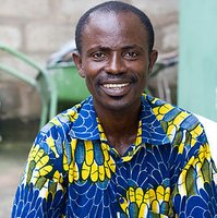 Evans is another tailor we work with in Ghana. He makes all our men's shirts.