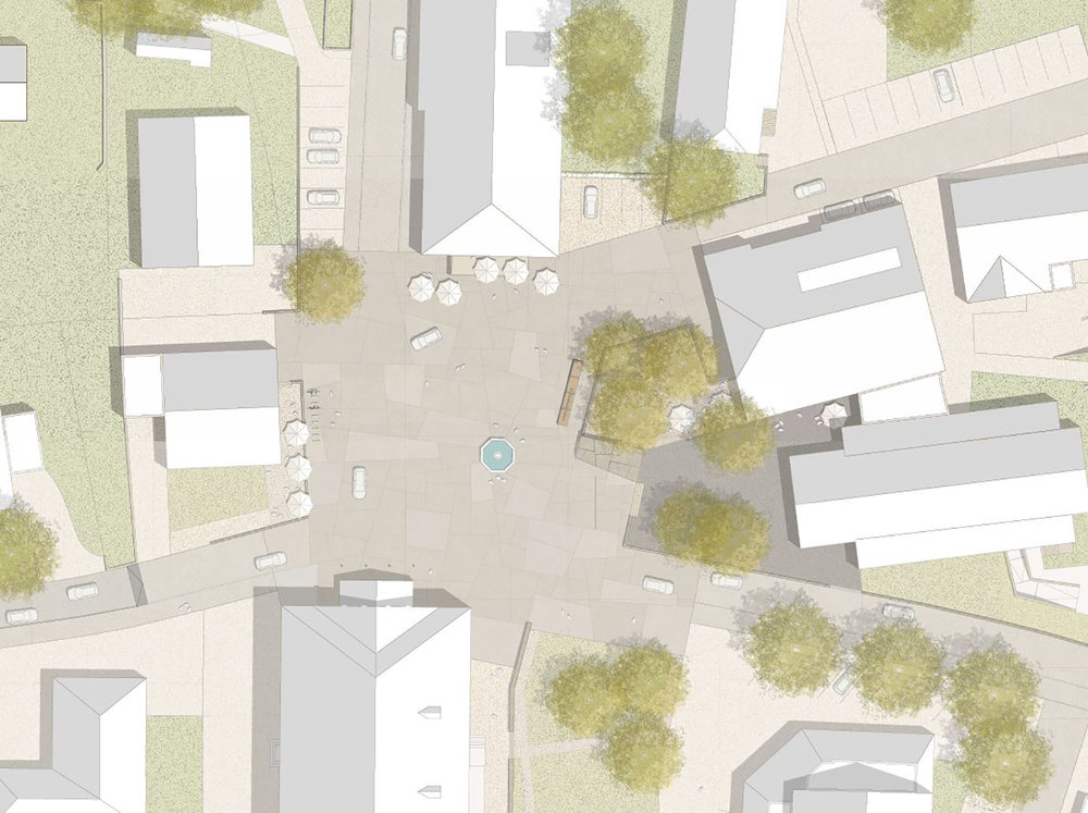 WB Zentrumsgestaltung Hittisau - -1. R A N G - - Landschaftsplanung Mettler Landschftsarchitektur, Verkehrsplanung Markus Hartmann