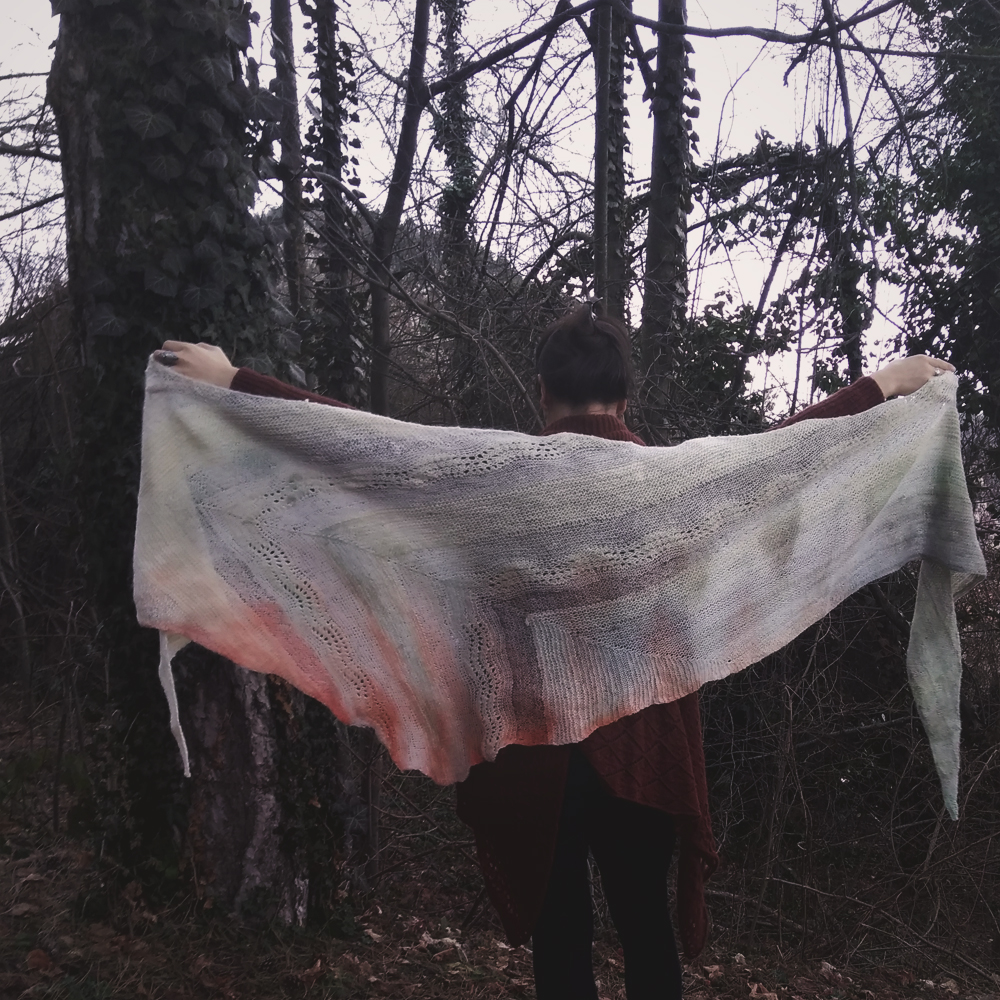 Of Ashes, Blood And Bones Shawl