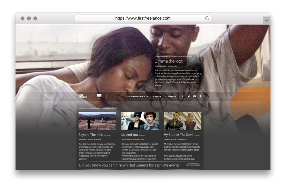 The finished Whirled website
