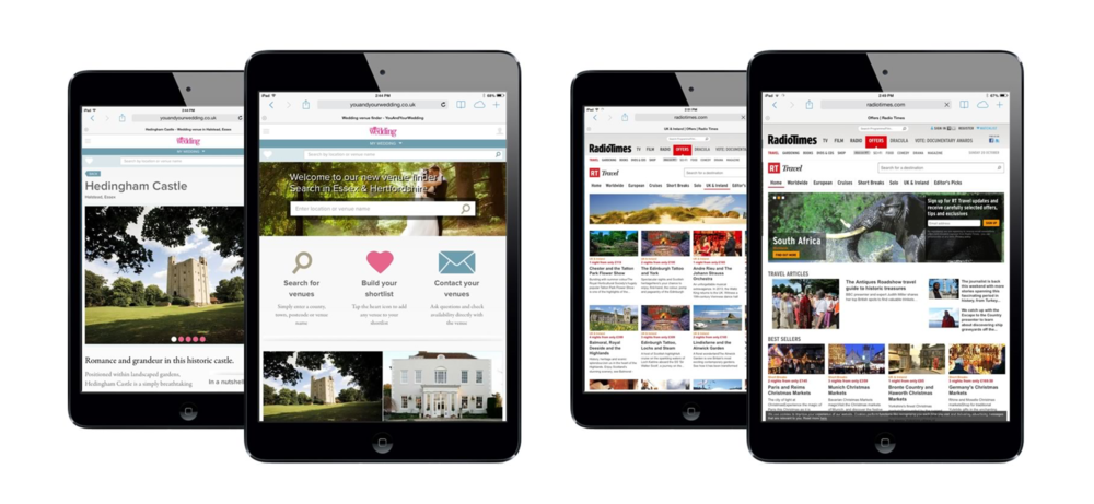 Your and Your Wedding Venue finder and the Radio Times Travel site