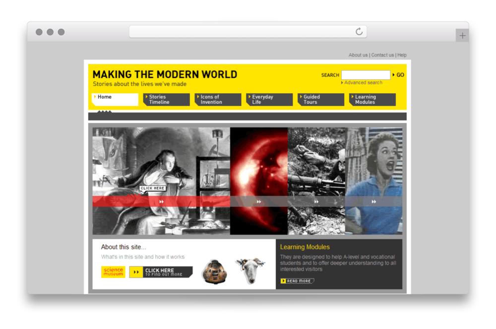 Making the Modern World site