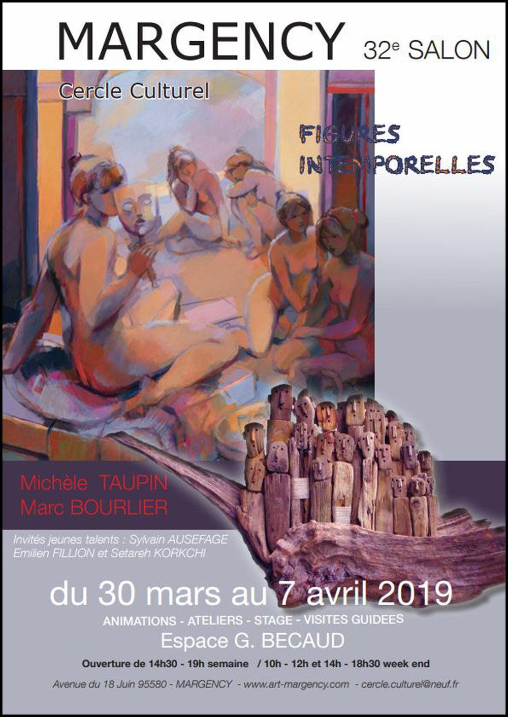CERCLE CULTUREL - MARGENCY, FRANCEExpo: 30/03/2019 - 07/04/2019Vernissage: 30/03/2019 (17h30-21h00)
