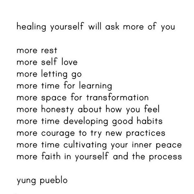 100% Truth!! The self healing journey is by no means the easiest but it is however 100% essential to becoming truly whole and balanced! And when it all gets a bit too cray 😜 (and we know it does) Just remember to :: slow down,  Pause, breathe, take a moment to be grateful for being alive!  Trust the process! And try to appreciate the the divine perfection and beauty in it all! Everything is happening for a reason!! Get out into nature, connect with the Earth somehow like go barefoot, Hug a tree or tend to a flower!  Laugh uncontrollably until your belly aches!! Lastly, Have some compassion and love for yourself for just how amazing your doing !! ........... Because sometimes we need a reminder of just how far we've come!! ❤️✨✨🌺💗💗🙏🏻🙏🏻 LOVE the amazing yung pueblo. ❤️❤️ ........... How is healing asking more of you right now in your life ?? ❤️❤ Shine on . ✨✨💗💗 Love , M xx️xx #thursdaythoughts #healingvibes #truth #healingquotes #healing #mindbody #gratitude #yungpueblo #healingjourney #selfhealing #selflove #divineplan #wellness #yoga #meditation #healer #holistichealth #mindfulness #wholeness