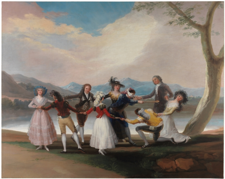 Blind Man's Buff  by Goya