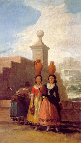 Mozas del cántaro  by Goya