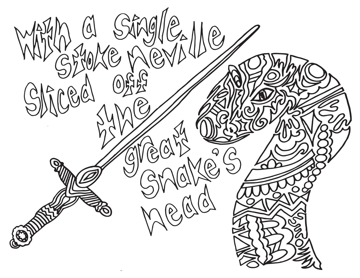 NEVILLE QUOTE - Free Printable Coloring Page — Stevie Doodles