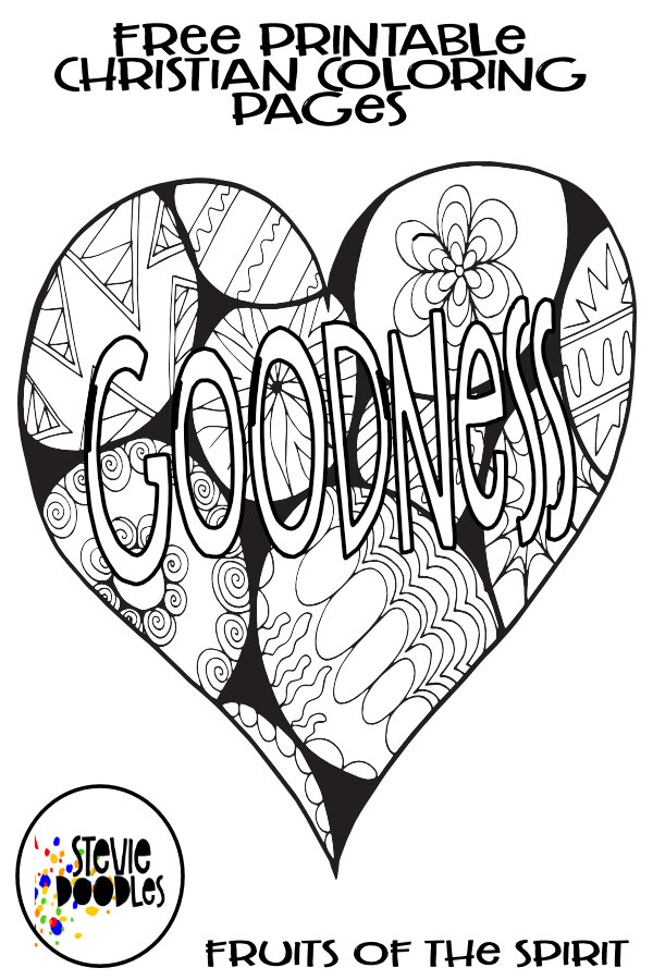 - GOODNESS Fruits Of The Spirit Free Coloring Page — Stevie Doodles