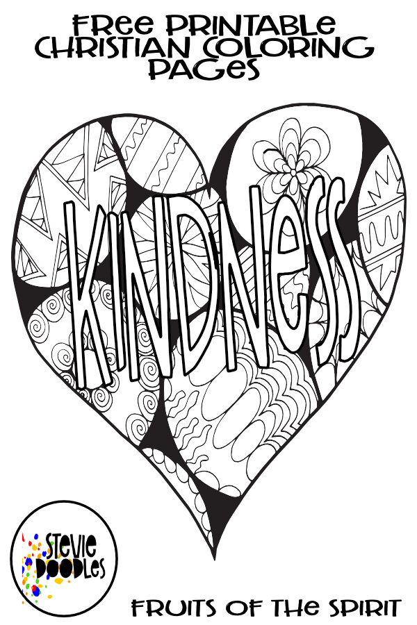 Kindness Fruits Of The Spirit Free Coloring Page Stevie Doodles
