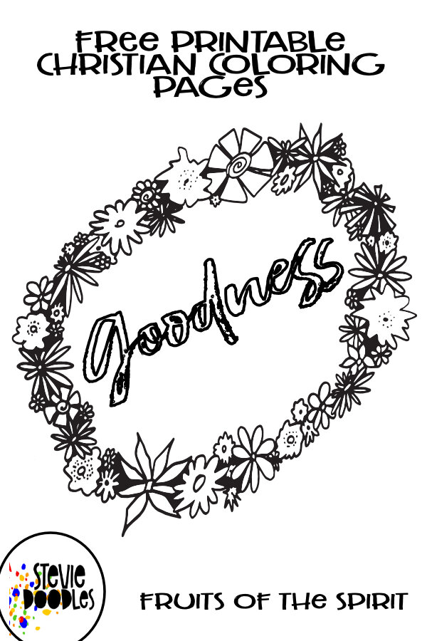 - GOODNESS Fruits Of The Spirit Free Coloring Page Flowery — Stevie Doodles