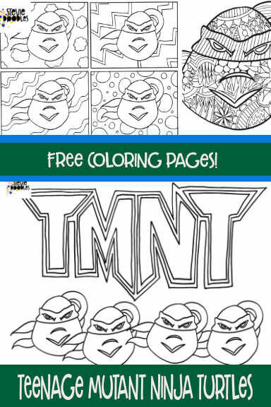 It's just a picture of Free Printable Ninja Turtle Coloring Pages intended for coloring book