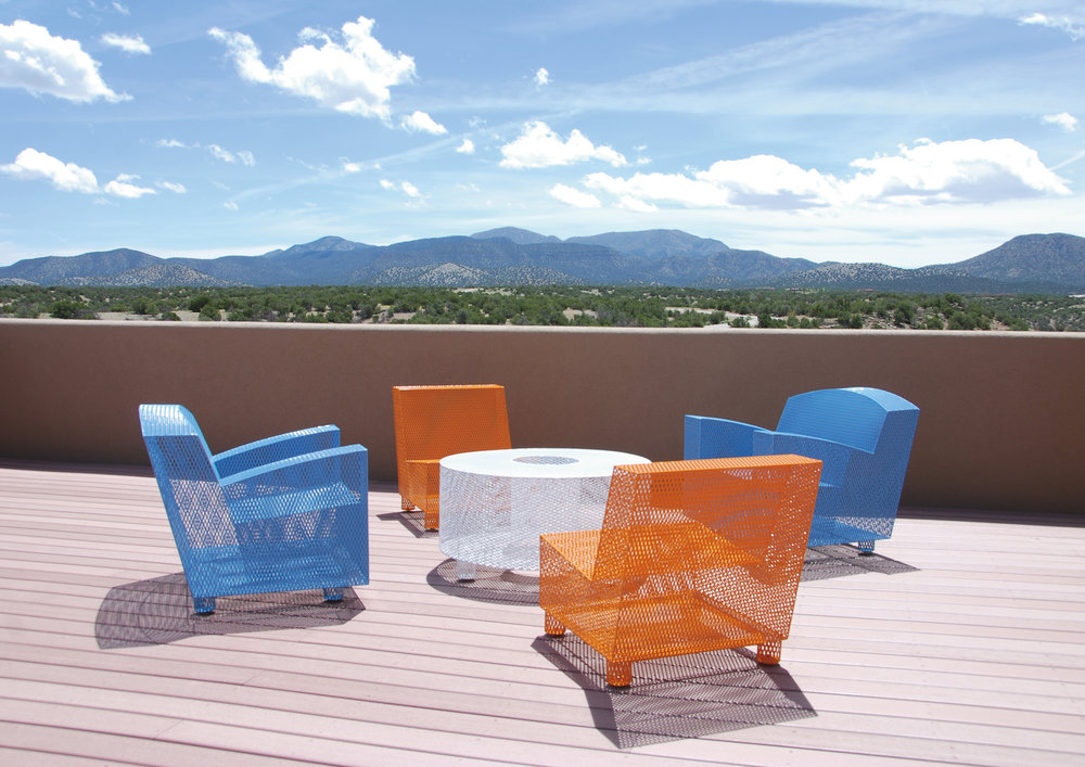 half13 outdoor furniture - Beautiful stainless steel outdoor furniture, all TIG welded by hand in the USA. Commercially durable.