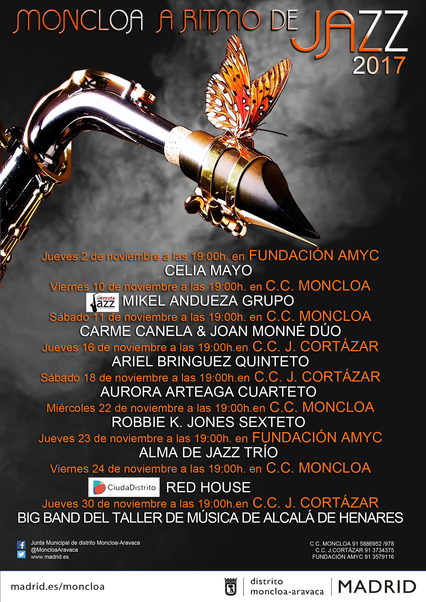CARTEL- JAZZ MONCLOA