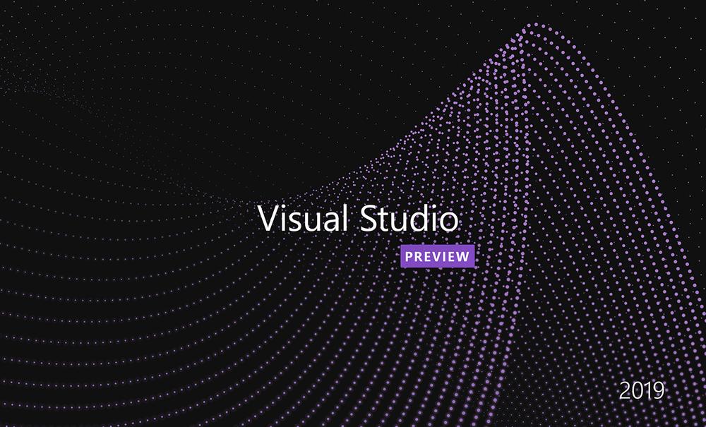 Visual Studio 2019 (Preview) on Windows loading screen