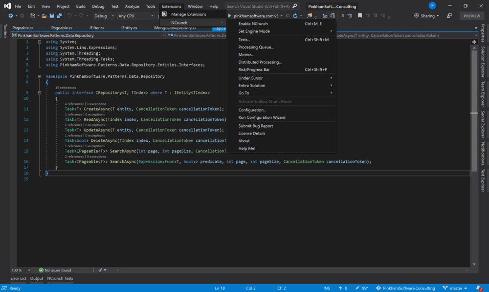 Visual Studio 2019 extensions