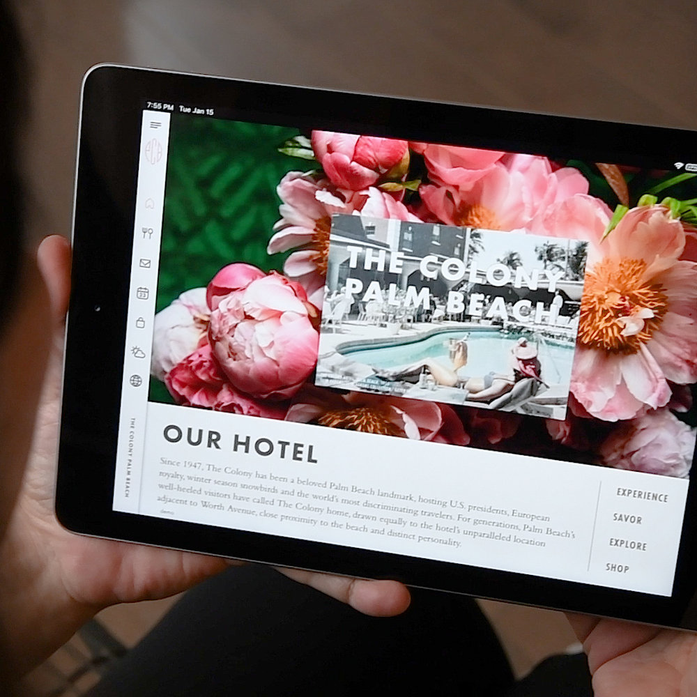 Bespoke guest experience technology - For discerning hospitality venues and luxury advertisers.