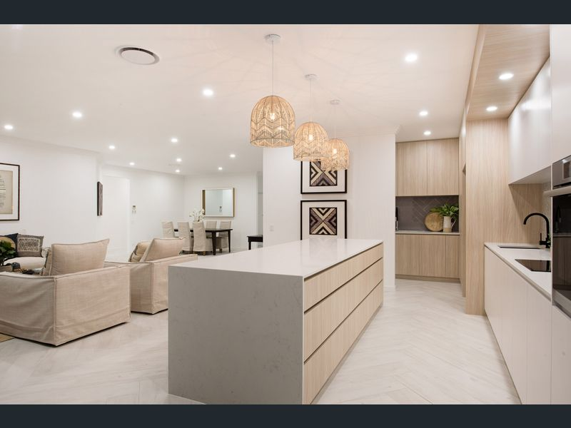 Modern Hamptons with herringbone flooring