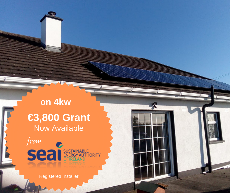 INSTALL SOLAR PANELS - Solar Grant of €700 kw now available. Electricity prices increased by 12% this year already!!